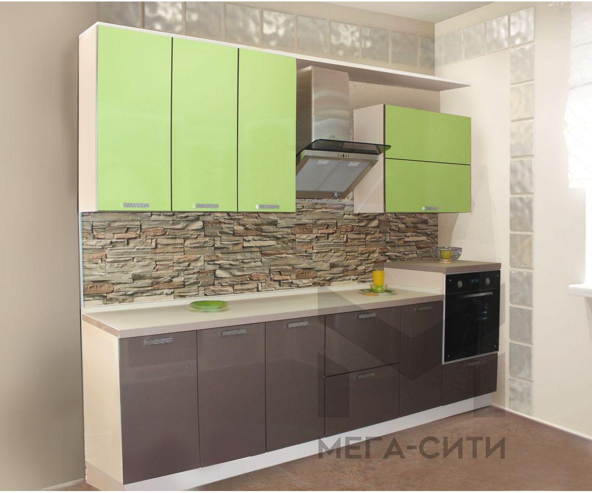 Кухонный гарнитур из пластика ФЛОРА 2,4М