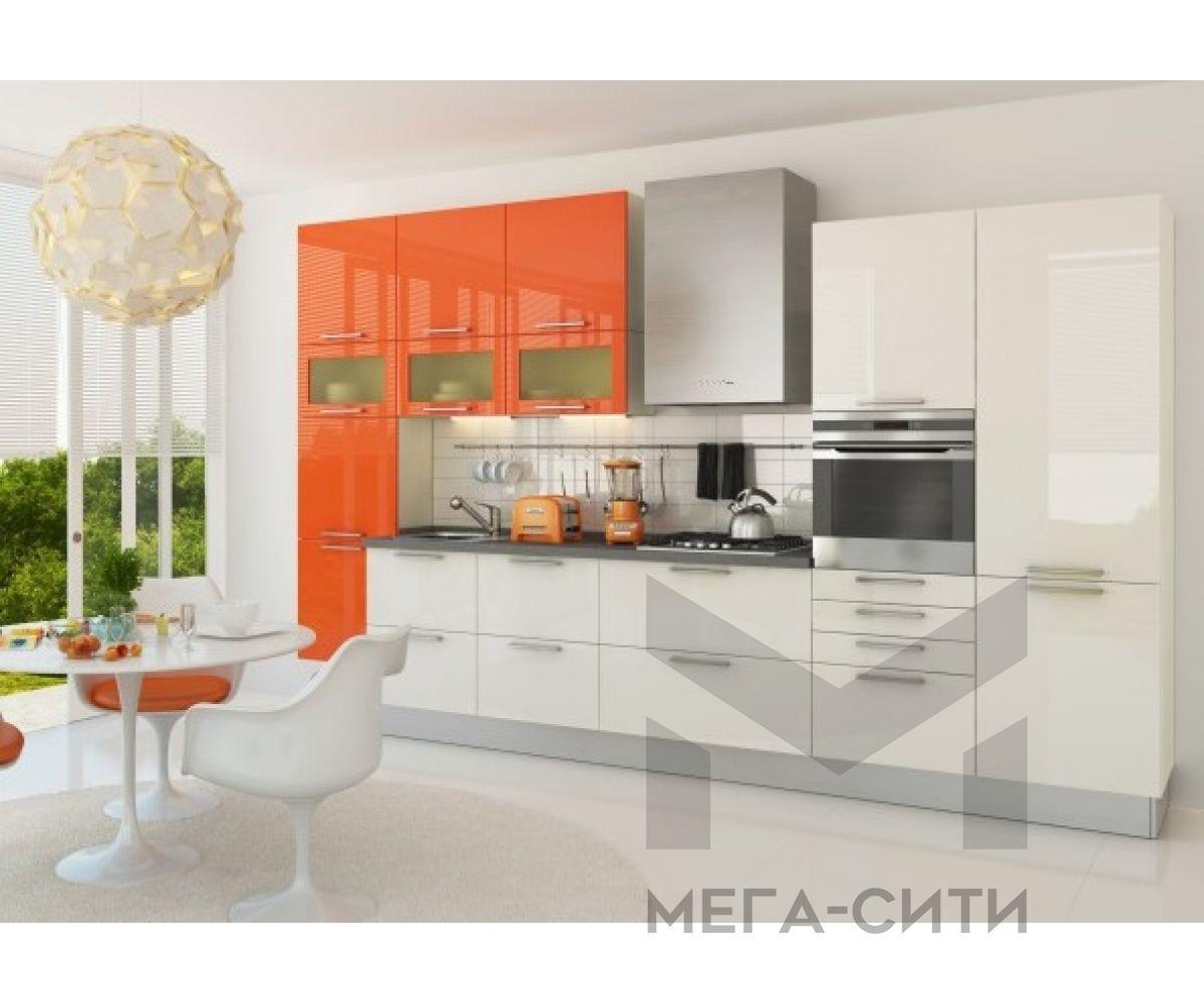Кухонный гарнитур Жасмин 3,8 м МДФ ПВХ глянец