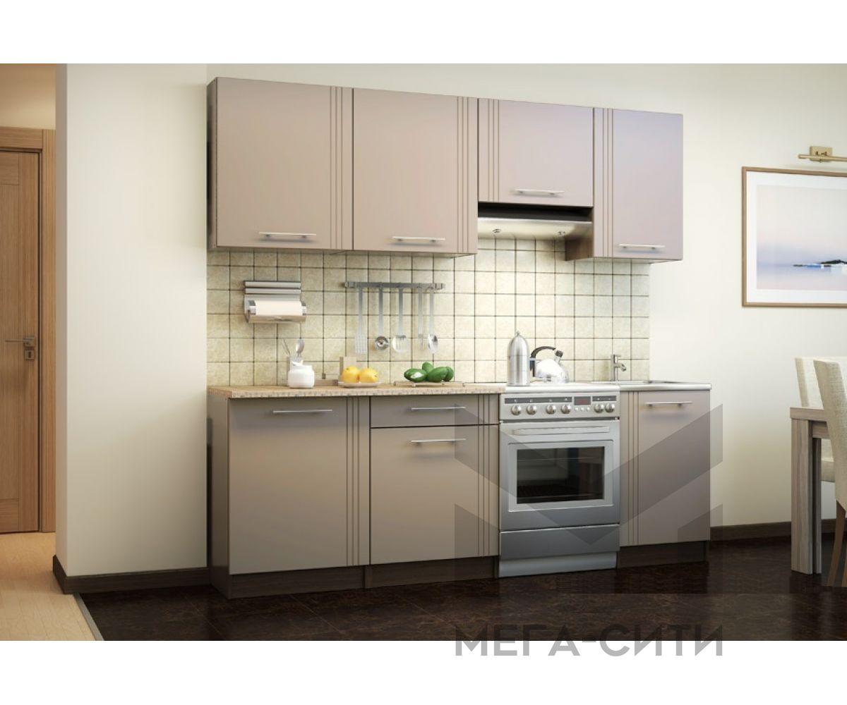Кухонный гарнитур МДФ Лантана 2,4 м МДФ ПВХ металлик