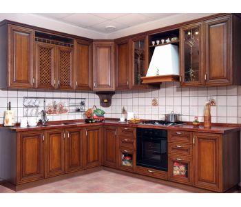 Кухонный гарнитур Лозанна из массива березы  2,2*2,8м