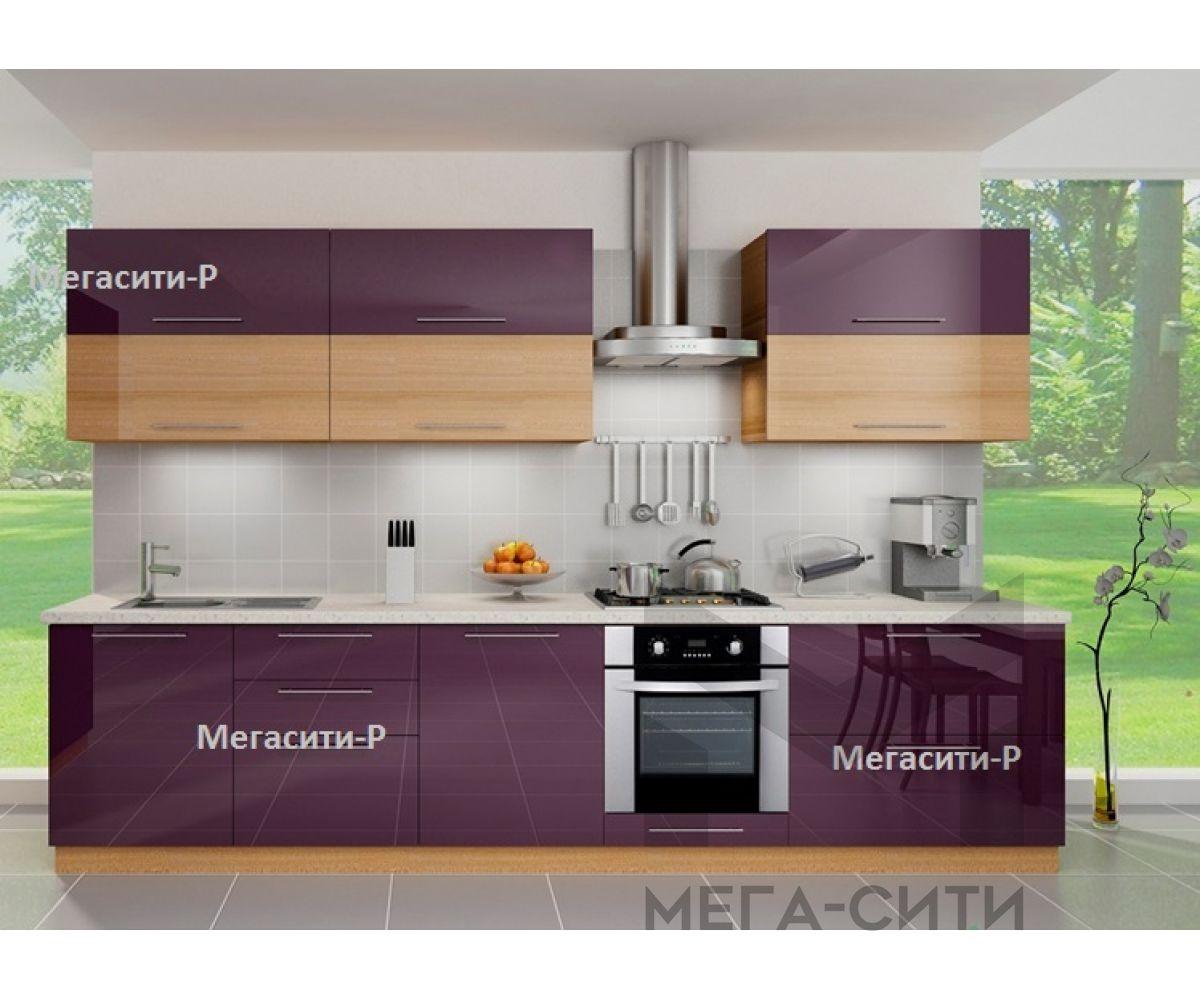 Кухонный гарнитур из пластика МАЛЬТА 3,3м
