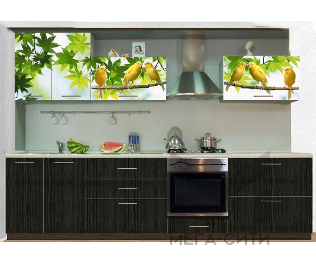 Кухонный гарнитур с фотопечатью  Марта №3 (2,4 м)