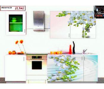 Кухонный гарнитур с фотопечатью МЕЛИТТА № 24 1.5м НОВИНКА