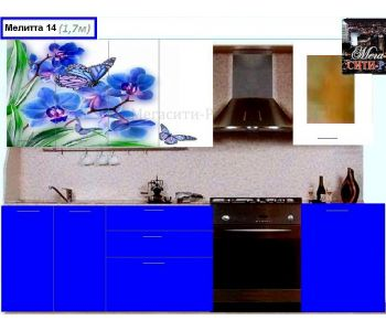 Кухонный гарнитур с фотопечатью МЕЛИТТА № 14 1.7м НОВИНКА