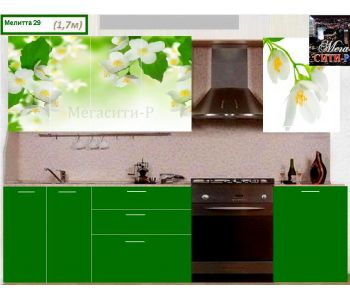 Кухонный гарнитур с фотопечатью  Мелитта № 29 1.7м