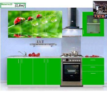 Кухонный гарнитур с фотопечатью МЕЛИТТА № 23 1.6м НОВИНКА