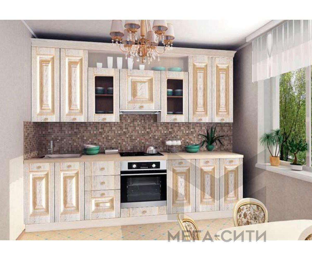 Кухня Моника 2,6 м с патиной