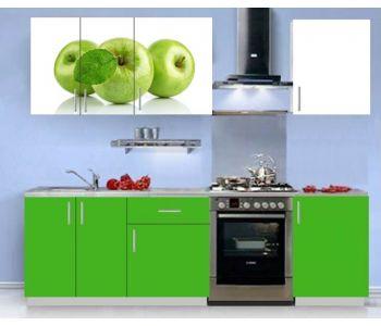 Кухонный гарнитур с фотопечатью  Ника 1 (1,5 м )