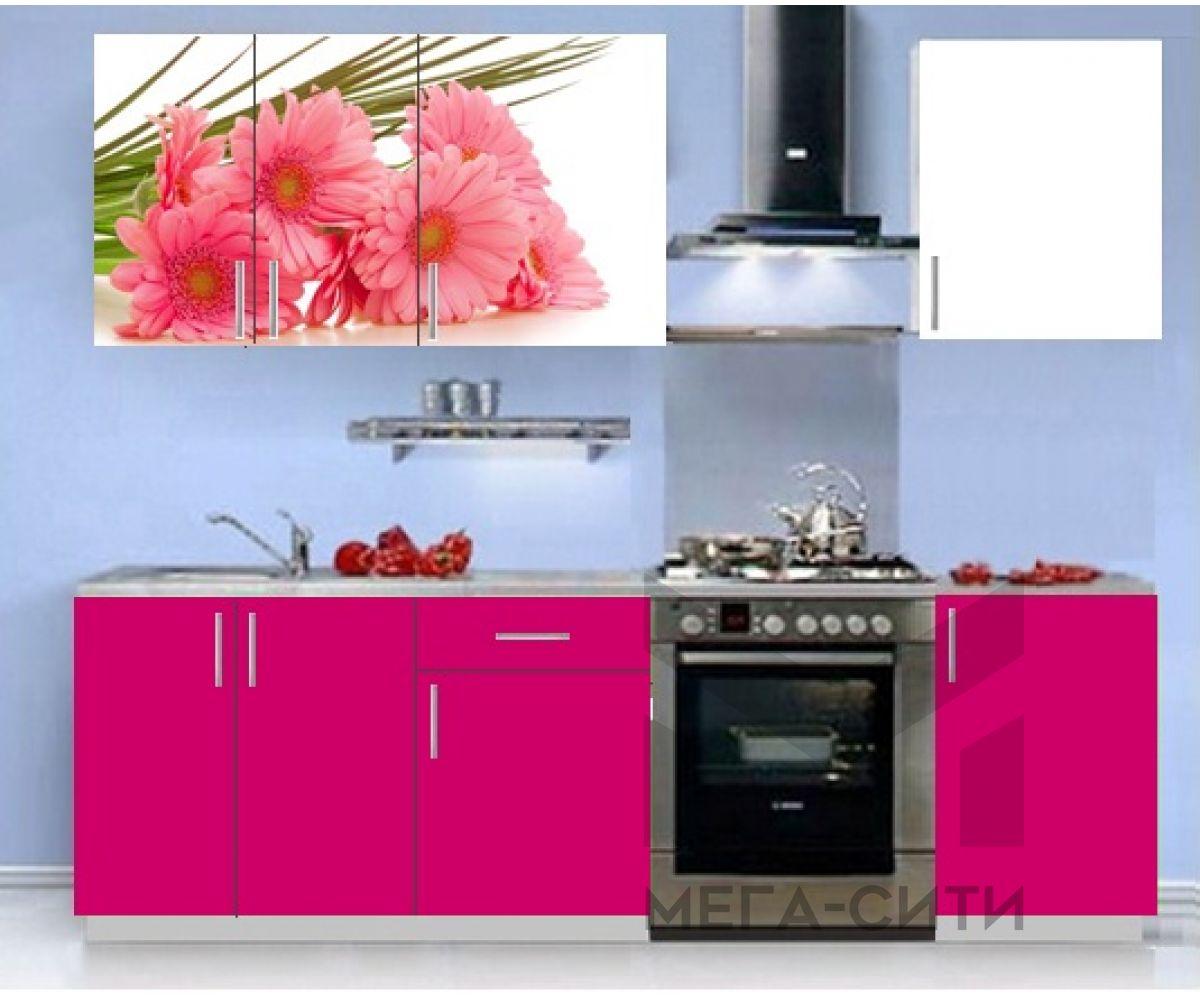 Кухонный гарнитур с фотопечатью эконом  Аника 10 (1,5 м)