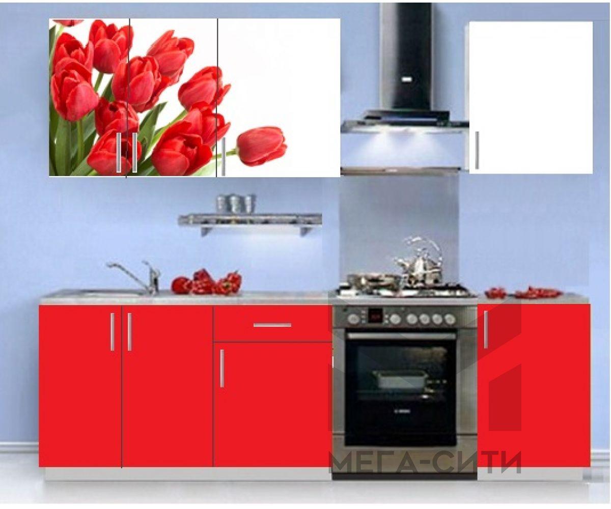 Кухонный гарнитур с фотопечатью эконом Аника 11 (1,5 м)