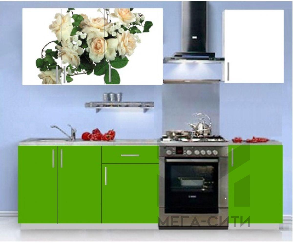 Кухонный гарнитур с фотопечатью эконом Аника 12 (1,5 м)