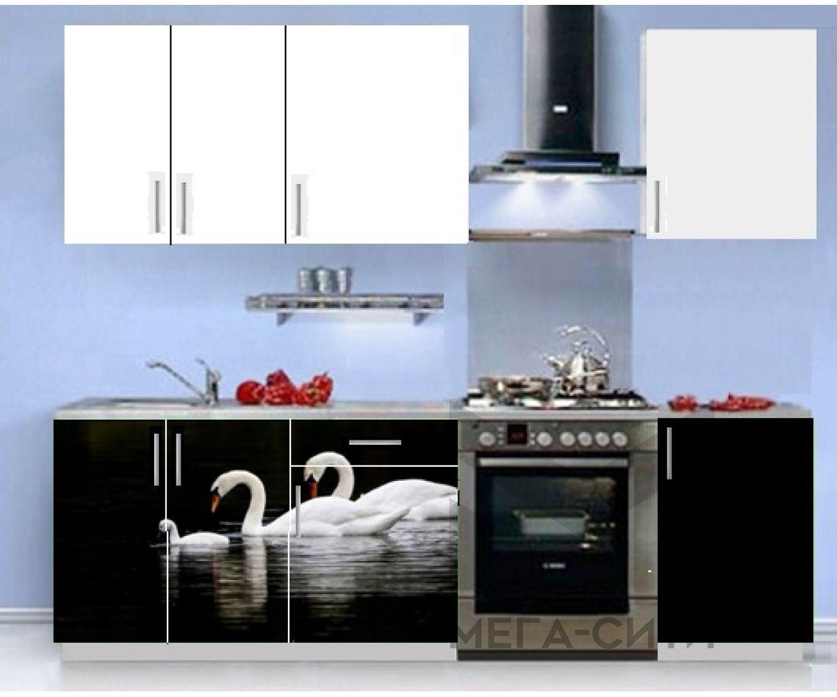 Кухонный гарнитур с фотопечатью эконом Аника 13 (1,5 м)