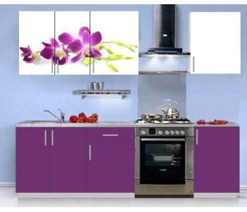 Кухонный гарнитур с фотопечатью эконом  Аника 15 (1,5 м)