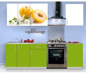 Кухонный гарнитур с фотопечатью эконом Аника 5 (1,5 м)
