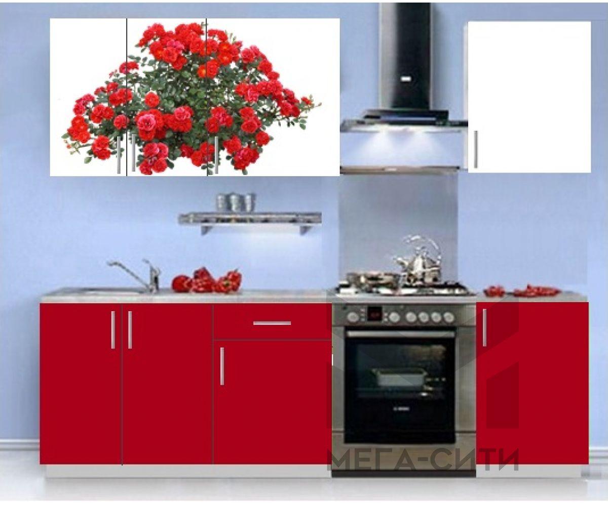 Кухонный гарнитур с фотопечатью эконом  Аника 7 (1,5 м)
