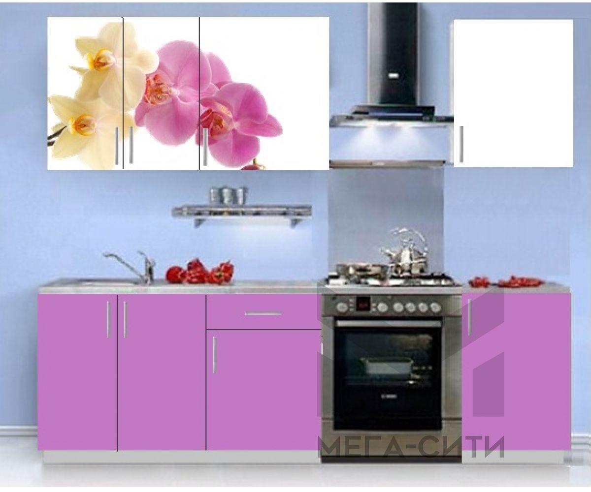 Кухонный гарнитур с фотопечатью эконом  Аника 8 (1,5 м)