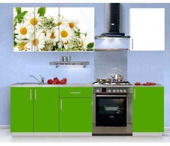Кухонный гарнитур с фотопечатью эконом  Аника 9 (1,5 м)