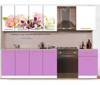 Кухонный гарнитур с фотопечатью эконом  Аника 23 (1,6 м)