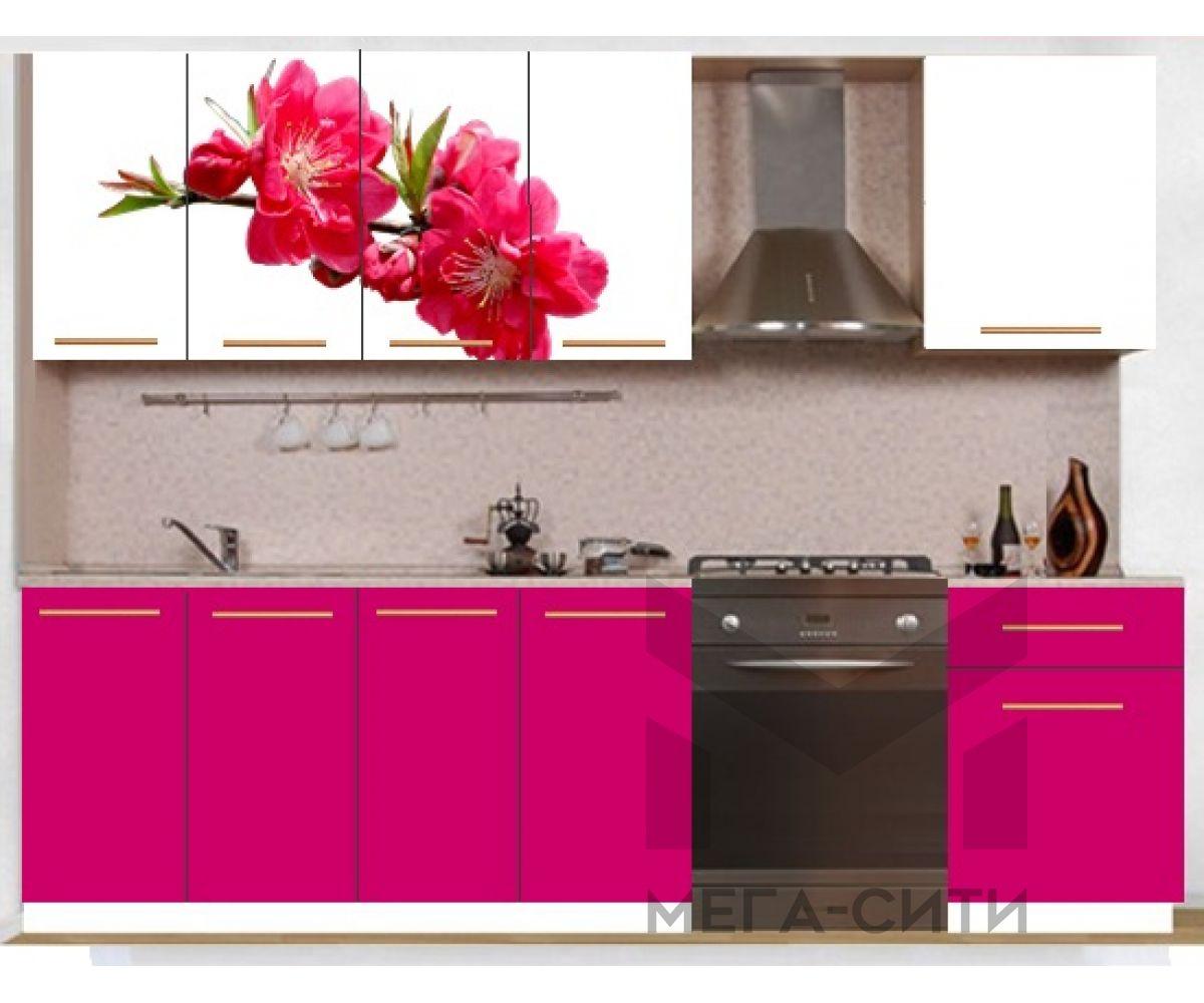 Кухонный гарнитур с фотопечатью эконом  Аника 25 (1,6 м)