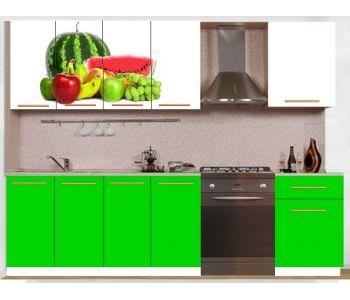 Кухонный гарнитур с фотопечатью эконом  Аника 17 (1,6 м)
