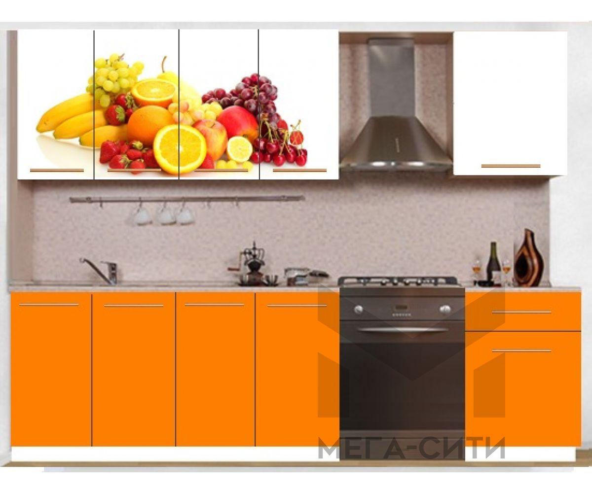 Кухонный гарнитур с фотопечатью эконом  Аника 18 (1,6 м)