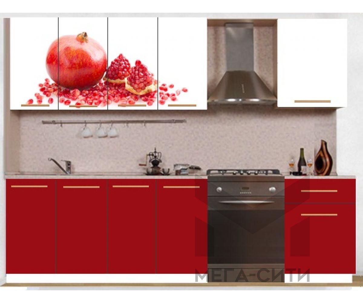 Кухонный гарнитур с фотопечатью эконом  Аника 19 (1,6 м)