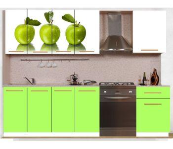 Кухонный гарнитур с фотопечатью эконом  Аника 20 (1,6 м)