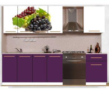 Кухонный гарнитур с фотопечатью эконом  Аника 21 (1,6 м)