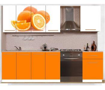 Кухонный гарнитур с фотопечатью эконом  Аника 28 (1,7 м)