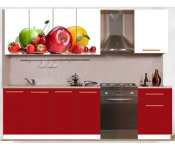 Кухонный гарнитур с фотопечатью эконом  Аника 29 (1,7 м)