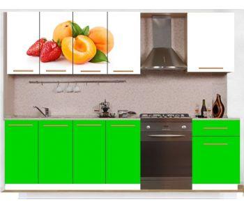 Кухонный гарнитур с фотопечатью эконом  Аника 30 (1,7 м)