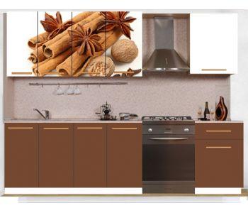 Кухонный гарнитур с фотопечатью эконом  Аника 31 (1,7 м)