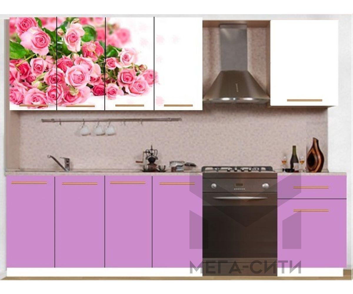 Кухонный гарнитур с фотопечатью эконом  Аника 32 (1,7 м)