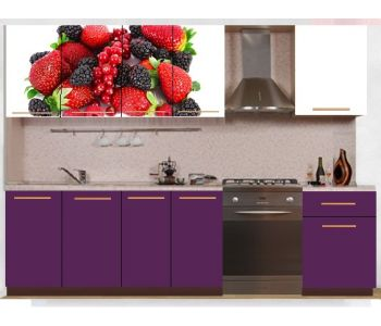 Кухонный гарнитур с фотопечатью эконом  Аника 33 (1,7 м)