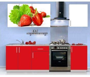 Кухонный гарнитур с фотопечатью эконом  Аника 3 (1,5 м)