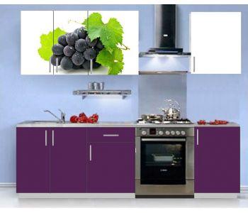 Кухонный гарнитур с фотопечатью эконом  Аника 4 (1,5 м)