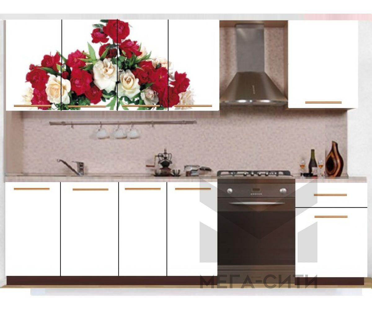 Кухонный гарнитур с фотопечатью эконом Аника 34 (2,0 м)