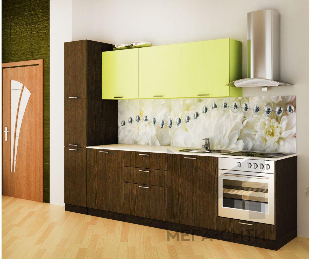 Кухонный гарнитур Оливия 3,0 м МДФ ПВХ матов+глянец