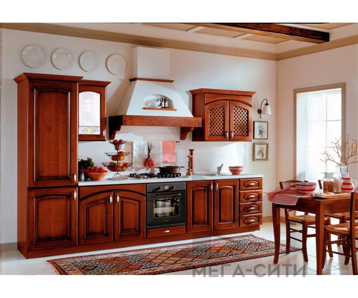 Кухонный гарнитур из массива березы Пенелопа 3,2 м Массив Берёза