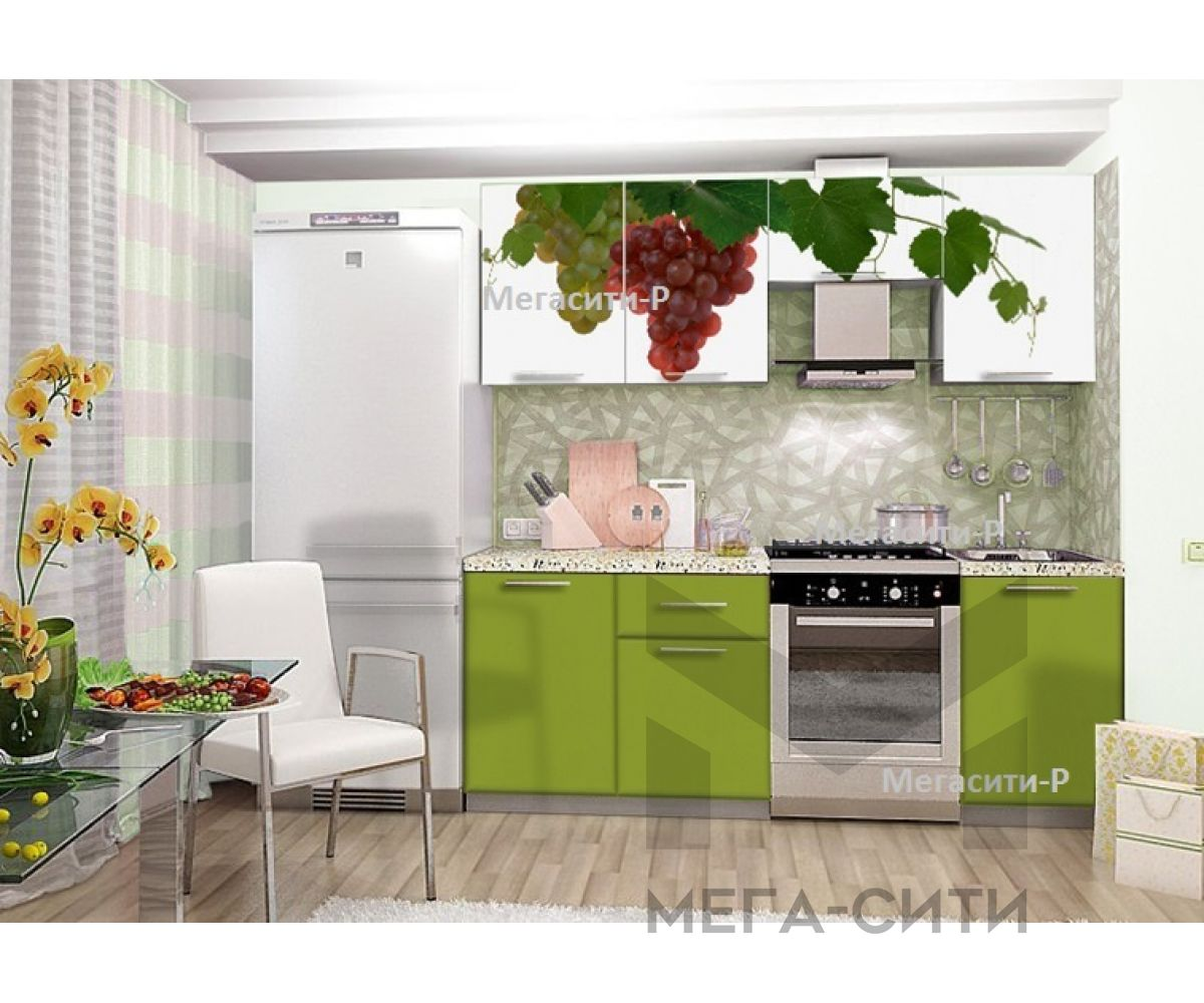 Кухонный гарнитур с фотопечатью  Полина 1.7м НОВИНКА