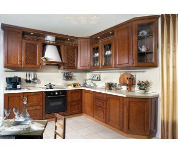 Кухонный гарнитур Рона (2,5 м х2,2 м ) Массив Берёзы
