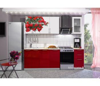 Кухонный гарнитур с фотопечатью  Роза 1.7м НОВИНКА
