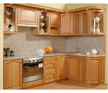 Кухонный гарнитур из массива дерева РОВЕНА 2,7*1,7м