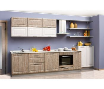Кухонный гарнитур Сантана 3,6 м МДФ ПВХ матовый