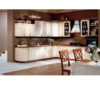 Кухонный гарнитур из массива дерева СИЕНА габариты 2,6*2,9м