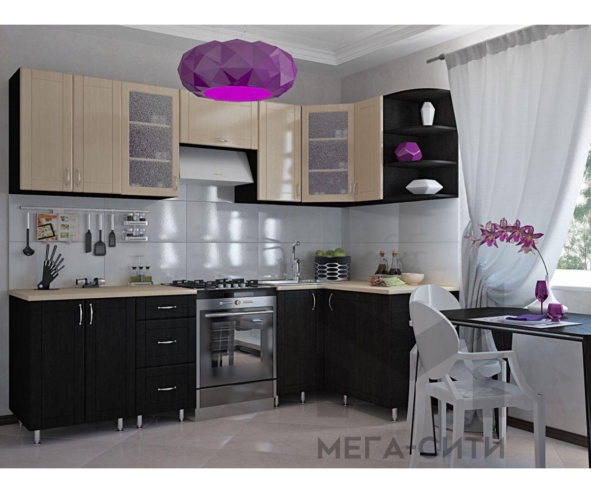 Кухонный гарнитур МДФ Валерия (2,6 х 1,3 м)