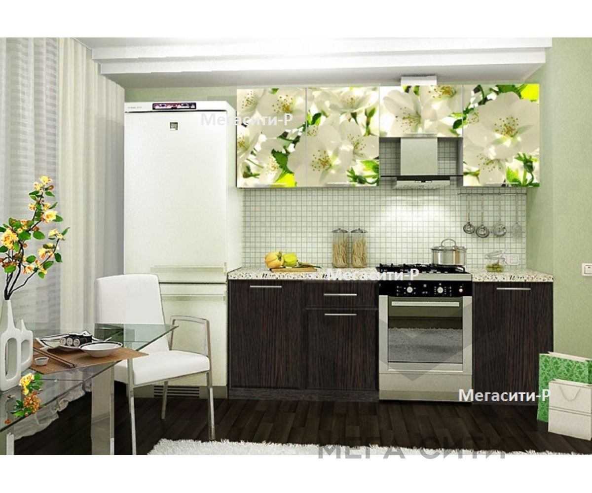 Кухня с фотопечатью  Весна 1.7м НОВИНКА