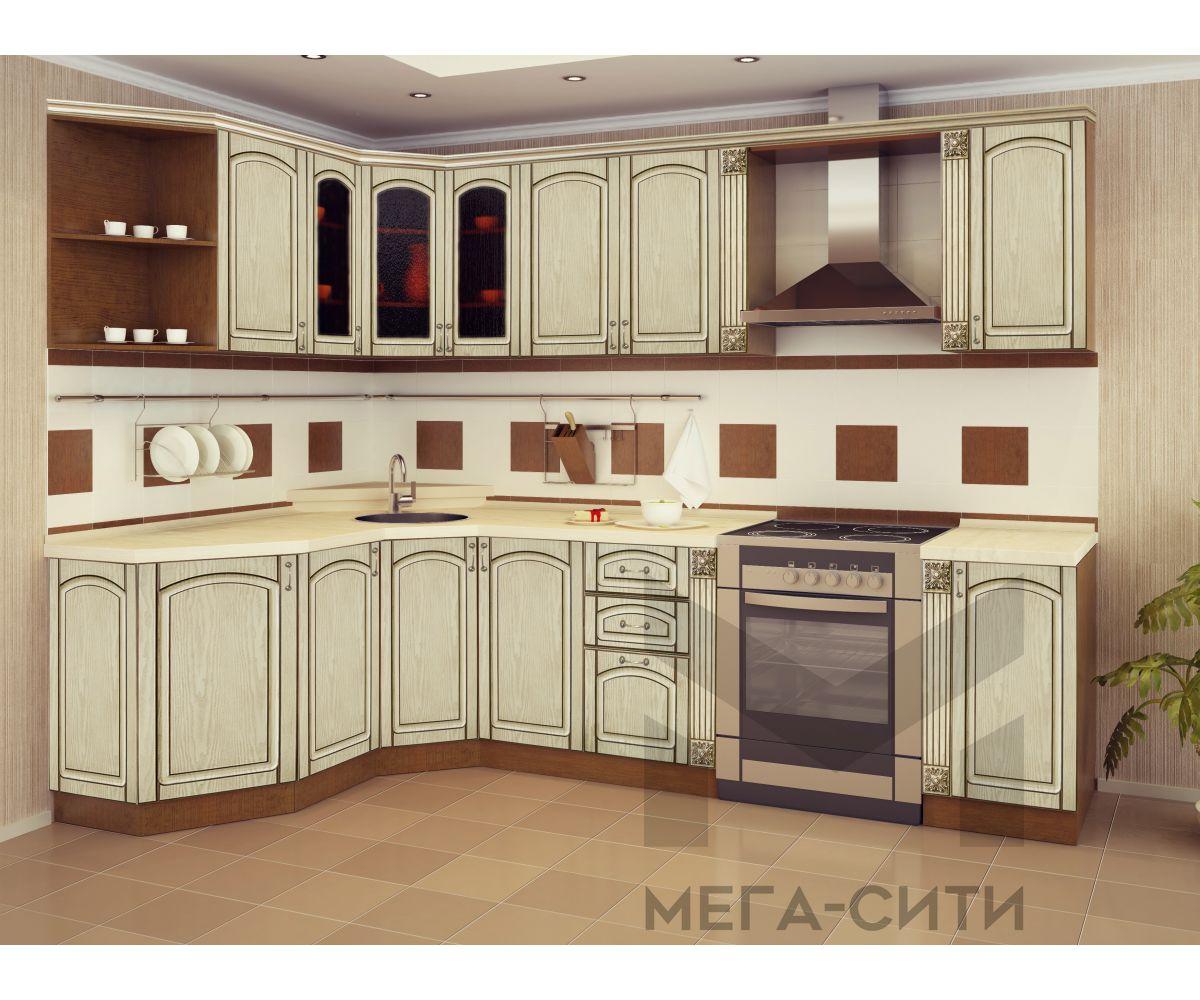 Кухонный гарнитур с патиной  ВИКТОРИЯ