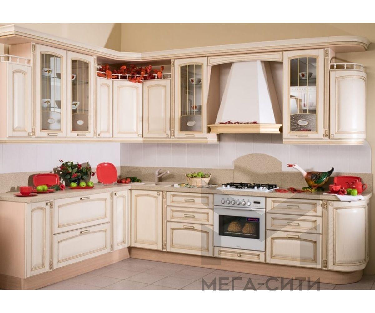 Кухонный гарнитур из массива березы Виола (2,1 х 3,1 м )