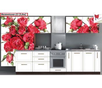 Кухня с фотопечатью  Валентина 22 3,6 м Комплект